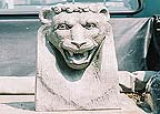 Lion Head stone carved fountain